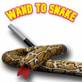 "Professional Wand to Snake (12"" metal Wand To 3 foot Cloth Snake)"