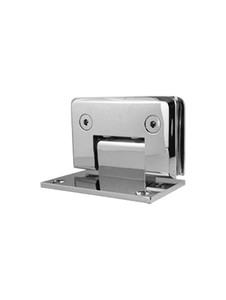 SHOPAWMCP Wall Mount Offset Back Plate Hinge in Chrome Polished Finish