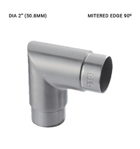 EB63045020EBS 90-DEGREE ELBOW FOR 50.8 x 1.5mm SS316