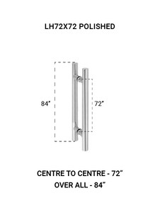 """LH72X72PS Ladder Handle 72""""X72"""" in Polished Finish"""