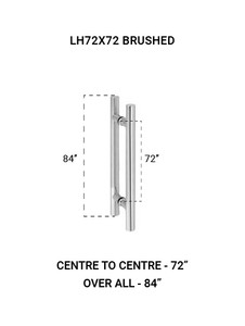 "LH72X72BS Ladder Handle 72""X72"" in Brushed Finish"