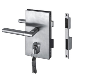 GDL87OBBSS + GDLKW870BSS LOCK & KEEPER FOR GLASS TO WALL
