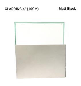 "EW3CL7021010SAB Aluminum Clip-On Cover Profile  4"" High in Matt Black"