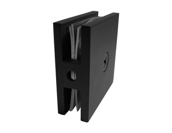 GC111EDBL Wall to Glass Connector (Matte Black)