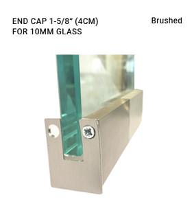 EC3CL703410BS Brushed 1-5/8 Endcap for 10mm glass
