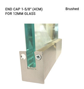 EC3CL696412BS BRUSHED 1-5/8 ENDCAP FOR 12MM GLASS
