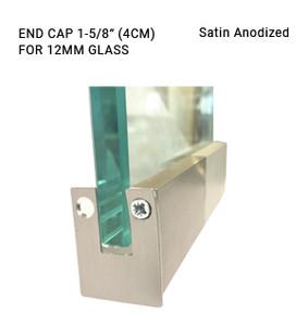 EC3CL697412SA Satin Anodized 1-5/8 ENDCAP FOR 12MM GLASS