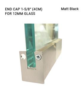 EC3CL698412SAB Matte Black 1-5/8 ENDCAP FOR 12MM GLASS