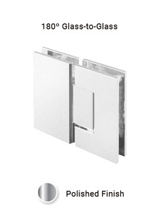 SHV92GGEDCP 180 Degree Glass to Glass in Chrome Polished Finish