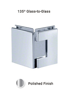 SHV135GGEDCP 135 Degree Glass to Glass in Chrome Polished Finish