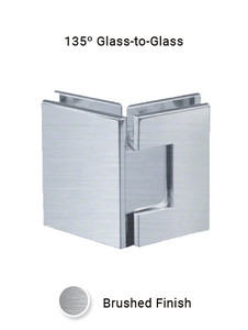 SHV135GGEDBN 135 Degree Glass to Glass in Brushed Nickel