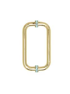 H8x8CMGP Glass Door Handle Gold Polished