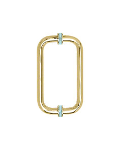 H8x8CMBG Glass Door Handle Brushed Gold