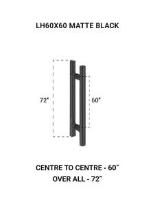 "LH60X60MBL Ladder Handle 60""X60"" in Matte Black Finish"