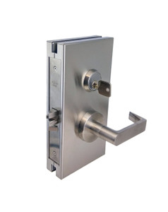 GDL510RHRBS Glass Door Right Hand Reverse Center Lock with Dead latch