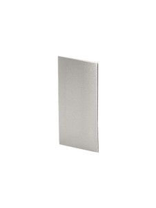 EC42524X2XXPS (Shoe Base) Polished Stainless End Cap for Standard Square Base Shoe
