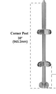 "PR438CBS - 42"" HIGH X 38"" (CORNER)"