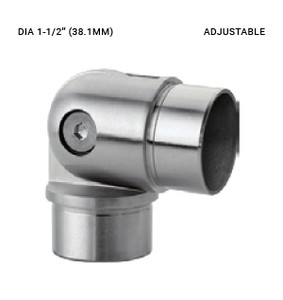 EB63353815ABS ELBOW AJUSTABLE CONNECTOR SS316 FOR 38.1 DIA X 1.5 MM