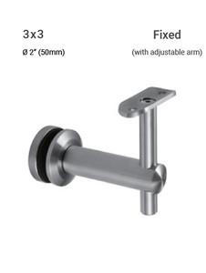GB65943350FBSA GLASS HANDRAIL BRACKET ADJUSTABLE ARM FIXED