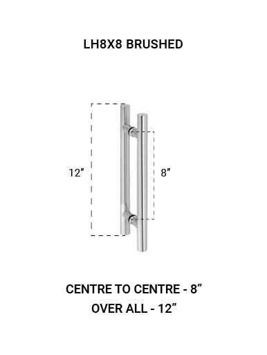 """LH8X8BS Ladder Handle 8"""" X 8"""" in Brushed Finish"""