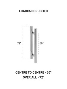 """LH60X60BS Ladder Handle 60""""X60"""" in Brushed Finish"""