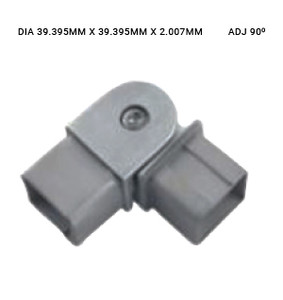 EB63774020ABS 90-DEGREE FLEXIBLE ELBOW SQUARE SS316