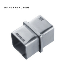 EB63784020LBS SQUARE STRAIGHT CONNECTOR SS316