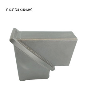 EB43832590HBS ELBOW 90 DEG IN SS 304 FOR RECTANGULAR PIPE 25 X 50 MM
