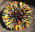 Cameroon Juju Hat : Kaleidoscope 19 inch