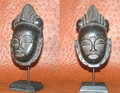 Miniature Masks w Stands: Baule Tribe Mask (O)
