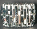 South African Safety Pin Bracelets: Black Brown White