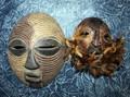 2 African BaLuba Tribe Masks