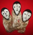 3 African Mask Set Lega Tribe