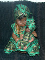 "Senegalese Mama and Baby: Doll Set""A"""