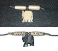 Ebony and Bone Elephant Pendants