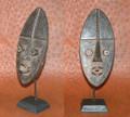 Miniature Masks w Stands: Grebo Tribe Mask (H)