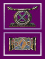 Ashanti Sword Stool ll: Brass/Shells/Beads