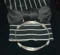 Silver Elephant Hair Bracelet: 4 Knot: 3 Strand