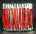 South African Safety Pin Bracelets: Red
