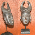 Miniature Masks w Stands: Senufo Tribe Mask