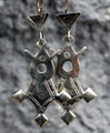 Silver Cross of Iferouane Earrings