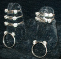 Silver Elephant Hair Ring: 2 Knot