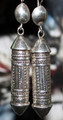 Tuareg Silver Amulet Earrings