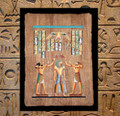 Egyptian Papyrus Art: Coronation of King Rameses
