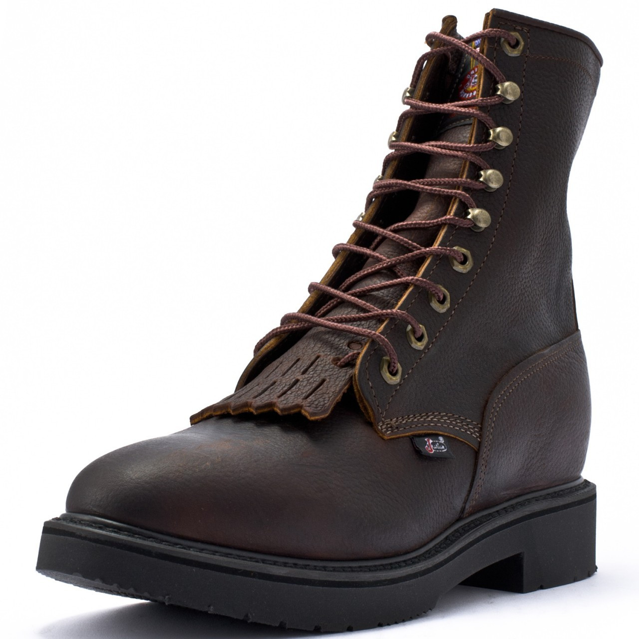 justin conductor 765 men s 8 inch briar pitstop safety toe work boot