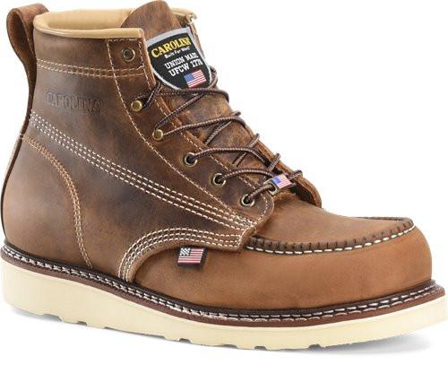 71c13e9c28c Carolina AMP USA Lo CA7811 Classic 6 Inch Old Town Folklore Moc Safety Toe  Wedge Sole Boot