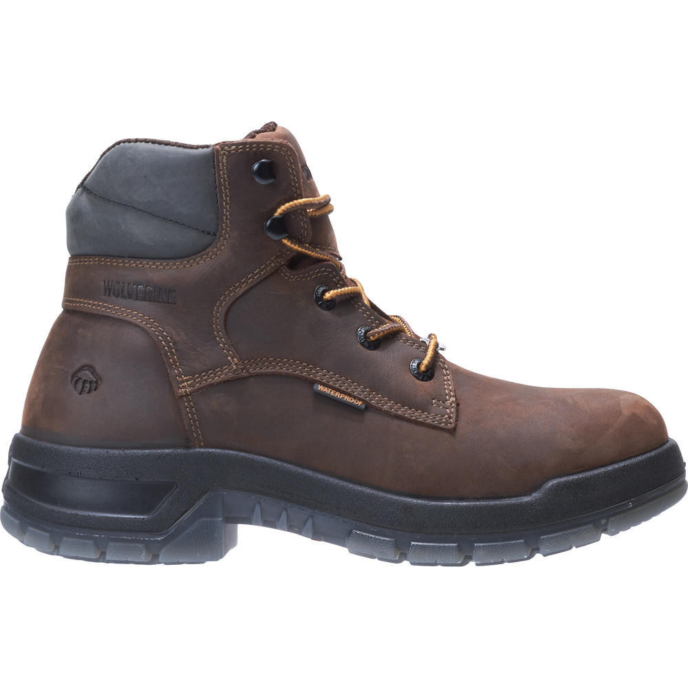 323f67e1af7 Ramparts 6 Inch Dark Brown Waterproof Soft Toe Boot 190041