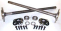 One piece axles for '76-'79 Model 20 CJ7 Quadratrack with bearings and 29 splines, kit.