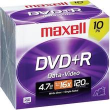 Maxell DVD+R 4.7GB 16X Discs, 10 per Pack