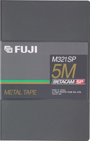 Fuji M321 Betacam SP 5 Minute Blank Video Tape